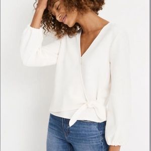 MADEWELL • texture and thread top